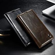 お買い得  携帯電話ケース-ケース 用途 Samsung Galaxy Samsung Galaxy ケース ウォレット / カードホルダー / スタンド付き フルボディーケース ソリッド PUレザー のために S5 / S4