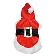 Kutya Kabátok Kapucnis felsőrész Kutyaruházat Aranyos Divat Melegen tartani Karácsony Karakterek Piros