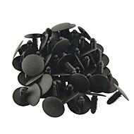 50 piezas de 25 mm de diámetro auto del coche cabeza de empuje en remaches de plástico de cierre de panel de la puerta del coche de