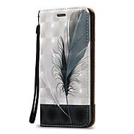 Недорогие Чехлы и кейсы для Galaxy A3(2016)-Кейс для Назначение SSamsung Galaxy A5(2016) / A3(2016) Кошелек / Бумажник для карт / Флип Чехол  Перья Твердый Кожа PU для A5(2016) / A3(2016) / A5