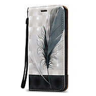 voordelige Galaxy A3(2016) Hoesjes / covers-hoesje Voor Samsung Galaxy A5(2016) A3(2016) Kaarthouder Portemonnee Flip Volledig hoesje Veren Hard PU-nahka voor A5(2016) A3(2016) A5 A3