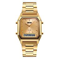 voordelige Chic horloge-SKMEI Heren Polshorloge Kwarts Digitaal Alarm Kalender Chronograaf Waterbestendig LED Drie tijdzones Stopwatch s Nachts oplichtend