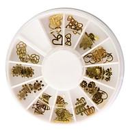 60db Arany Könnyűfém Nail Art dekoráció készletek