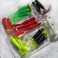 お買い得  釣り用アクセサリー-21 pcs ソフトベイト / ルアー ソフトベイト ソフトプラスチック 海釣り / 川釣り