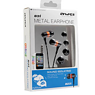awei-q3i高品質ハイファイ3.5ミリメートルiphone6 / 6plus用マイク用のインイヤーイヤホン