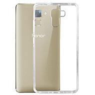 Недорогие Чехлы и кейсы для Huawei Honor-Для Кейс для Huawei Ультратонкий / Прозрачный Кейс для Задняя крышка Кейс для Один цвет Мягкий TPU Huawei Huawei Honor 7