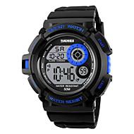 Недорогие Фирменные часы-SKMEI Муж. Цифровой Спортивные часы Будильник Календарь Секундомер Защита от влаги LED Цветной Фосфоресцирующий Хронометр PU Группа Cool