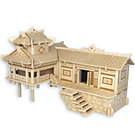 Puzzle Drewniane puzzle Cegiełki DIY Zabawki Chińska architektura Dom 1 Drewno Kryształowy Model / klocki