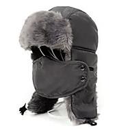 abordables Acampada ySenderismo-Gorro Chapka Sombrero de Pelo Esquí Máscara de protección contra la polución Sombrero Hombre Mujer Mantiene abrigado Tabla de Snowboard
