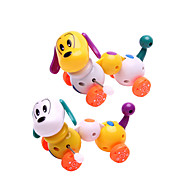 abordables Los juguetes clásicos-Juguete de Cuerda Perros Plástico Chico Chica