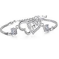 billige -Armbånd Kæde & Lænkearmbånd Sølv Party Smykker Gave Sølv,1pc
