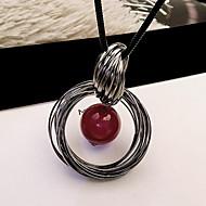 お買い得  -女性用 ペンダントネックレス  -  真珠 欧風, ファッション レッド ネックレス 用途 日常, カジュアル