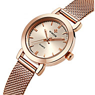 Недорогие Фирменные часы-WWOOR Жен. Дамы Наручные часы Кварцевый Защита от влаги Нержавеющая сталь Группа Аналоговый Кулоны Роскошь На каждый день Серебристый металл / Золотистый / Розовое золото - / Два года / Два года