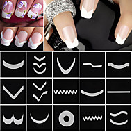 18 Nail Art tarra French Tips Guide meikki Kosmeettiset Nail Art Design