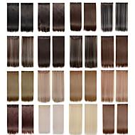 お買い得  -5クリップより多くの色が使用可能に女性のための毛延長のロングストレートカラー613分の4人工毛クリップ