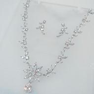 billiga -Brudkläder Zircon Kubisk Zirkoniumoxid Dekorativa Halsband Örhängen För Bröllop Party 1set Bröllopsgåvor