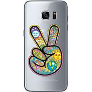 Недорогие Чехлы и кейсы для Galaxy S6 Edge Plus-Кейс для Назначение SSamsung Galaxy S7 edge S7 Ультратонкий Прозрачный С узором Кейс на заднюю панель Мультипликация Мягкий ТПУ для S7