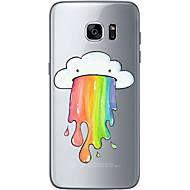 Кейс для Назначение SSamsung Galaxy S7 edge S7 Ультратонкий Прозрачный С узором Задняя крышка Пейзаж Мягкий TPU для S7 edge S7 S6 edge