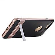 Недорогие Кейсы для iPhone 8 Plus-Назначение iPhone X iPhone 8 iPhone 7 iPhone 7 Plus iPhone 6 Чехлы панели со стендом Задняя крышка Кейс для Сплошной цвет Твердый PC для