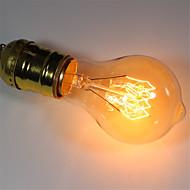 abordables Bombillas Incandescentes-1pc 40 W E26 / E27 A60(A19) Blanco Cálido 2300 k Retro / Regulable / Decorativa Bombilla incandescente Vintage Edison 220-240 V