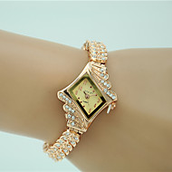 voordelige Modieuze horloges-Dames Dress horloge Modieus horloge Armbandhorloge Kwarts imitatie Diamond Legering Band Amulet Elegant Goud