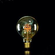 billige Glødelamper-1pc 25W E27 E26/E27 E26 G95 Varm hvid 2300 K Glødende Vintage Edison lyspære 220V 85-265V