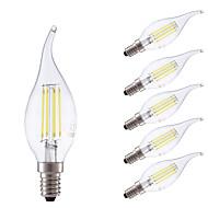 E14 LED Filament Bulbs B 4 COB 400/350 lm Warm White Cold White 6500/2700 K Dimmable AC 220-240 V