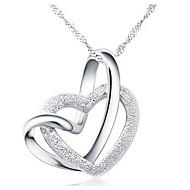 levne Šperky&Hodinky-Dámské Náhrdelníky s přívěšky - Srdce, láska Stříbrná Náhrdelníky Pro Párty, Výročí, Narozeniny
