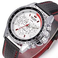Недорогие Фирменные часы-MEGIR Муж. Спортивные часы Наручные часы С автоподзаводом 30 m Повседневные часы Натуральная кожа Группа Аналоговый Кулоны Роскошь На каждый день Разноцветный - Белый Черный / Два года / Два года
