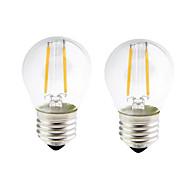 お買い得  -ONDENN 2pcs 2W 200lm E26 / E27 フィラメントタイプLED電球 G45 2 LEDビーズ COB 調光可能 温白色 110-130V 220-240V