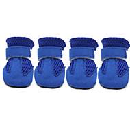 Hunde Schuhe und Stiefel Socken Modisch Lässig/Alltäglich Winter Sommer Frühling/Herbst einfarbig Rot Blau Schwarz Rosa Baumwolle Leder