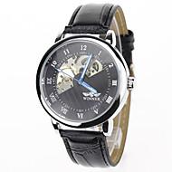 voordelige Chique horloges-Heren mechanische horloges Polshorloge Dress horloge Modieus horloge Sporthorloge Handmatig opwindmechanisme Vrijetijdshorloge Echt leer