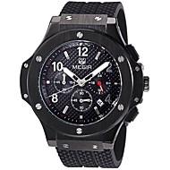 Недорогие Фирменные часы-MEGIR Муж. Спортивные часы Модные часы Армейские часы Кварцевый 50 m Календарь Конструкторы Фосфоресцирующий Натуральная кожа Группа Аналоговый Роскошь Винтаж На каждый день Разноцветный -