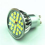 お買い得  LED スポットライト-4W 350lm GU10 LEDスポットライト MR16 24 LEDビーズ SMD 5050 調光可能 温白色 クールホワイト 220V 85-265V