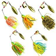 お買い得  釣り用アクセサリー-5 pcs メタルベイト / スピナーベイト / ルアー バズベイト&スピナーベイト / メタルベイト リード / メタル 海釣り / ベイトキャスティング / スピニング / ジギング / 川釣り / バス釣り / ルアー釣り / 一般的な釣り