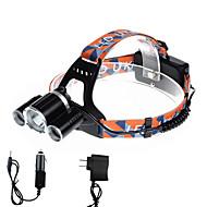 U'King Lanternas de Cabeça Farol Dianteiro LED 5000 lm 4.0 Modo Cree XP-G R5 Cree XM-L T6 Tamanho Compacto Fácil de Transportar para