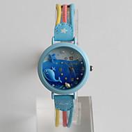 voordelige Kinderhorloges-Dames Kinderen Modieus horloge Kwarts Strass Kleurrijk Stof Band Cartoon Vrijetijdsschoenen Groen MeerkleurigPaars Geel Fuchsia Blauw