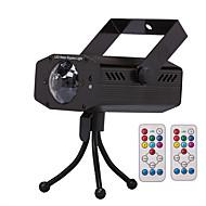 olcso Színpadi LED fények-U'King LED reflektorok Hordozható Könnyű beszerelni Távvezérlésű Hang-aktiválás Hideg fehér Zöld Kék Piros