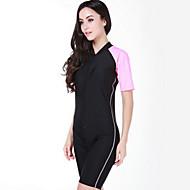 SBART Damen Dive Skins Neopren-Shorty UV-resistant Handyhülle für das ganze Handy Chinlon Taucheranzug Kurzarm Tauchanzüge Schutz gegen