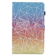 cheap iPad  Cases / Covers-Case For Apple iPad 4/3/2 iPad Air 2 iPad Air Card Holder with Stand Flip Full Body Cases Geometric Pattern Hard PU Leather for iPad