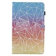 Недорогие Чехлы и кейсы для Samsung Tab-Кейс для Назначение SSamsung Galaxy Вкладка 9,7 Вкладка 8,0 Бумажник для карт со стендом Флип С узором Чехол Геометрический рисунок