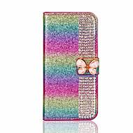 Назначение iPhone X iPhone 8 Чехлы панели Бумажник для карт Стразы со стендом Своими руками Чехол Кейс для Сияние и блеск Твердый
