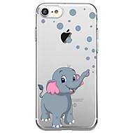 Недорогие Кейсы для iPhone 8-Кейс для Назначение Apple iPhone X iPhone 8 Ультратонкий Прозрачный С узором Кейс на заднюю панель Слон Мягкий Ластик для iPhone X iPhone