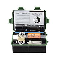 U'King LED손전등 손전등 키트 LED 2000 루멘 3 모드 Cree XM-L T6 네 조절가능한 초점 클립 용 캠핑/등산/동굴탐험 일상용 야외