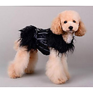 Dog Coat Dog Clothes Casual/Daily British Black Beige Pink Costume For Pets