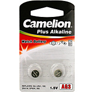 Camelion AG3 knap mønt celle alkalisk batteri 1,2V 2 pak