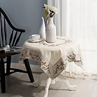 satılık kare işlemeli masa örtüsü% 100 pamuk düğün masa örtüsü dekor 85 * 85cm (34 * 34 inç)
