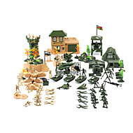 cheap Toys & Hobbies-Action Figure Display Model Toys Toys Novelty Plastic Boys' Girls' 130 Pieces