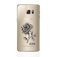 お買い得  Samsung 用 ケース/カバー-ケース 用途 Samsung Galaxy S7 edge S7 クリア パターン バックカバー フラワー ソフト TPU のために S7 edge S7 S6 edge plus S6 edge S6 S5 S4