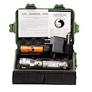 U'King LED Taschenlampen LED 1500 lm 3 Modus Cree XP-E R2 inklusive Batterie und Ladegeräten Camping / Wandern / Erkundungen Für den
